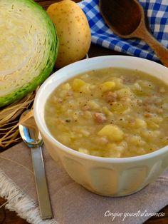 Cabbage soup potato and sausage | Zuppa cavolo patate e salsiccia | Cinque quarti d'arancia
