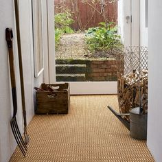 Carpets - Woodward Grosvenor Hardwearing carpets are perfect for high-traffic areas, like hallways, and cover a multitude of stains and scuffing. Domino, col Copper Weft, from £36 per sq m, Woodward Grosvenor. Modern Interior, Interior Design, My Ideal Home, Carpet Flooring, New Carpet, Living Room Inspiration, Soft Furnishings, Home Renovation, Mid-century Modern