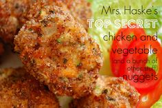 These healthier homemade chicken nuggets are packed with veggies, are oven baked, and are freezable making a great make-ahead meal for hungry kids and adults alike!