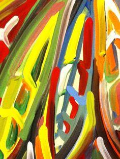 Chicago Blackhawks Painting by Justin Patten Sports Art Hockey