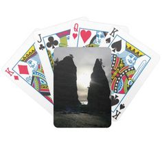 Sunset at Split rock Olympic National Park Bicycle Playing Cards