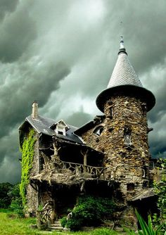 15) Maison de Sorcière Avec Ciel d'orage in France... possibly my new favorite house ever.