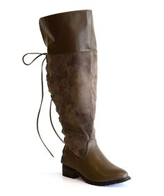 Love this Boots by Pamela Gray Kristi Over-the-Knee Wide-Calf Boot by Boots by Pamela on #zulily! #zulilyfinds
