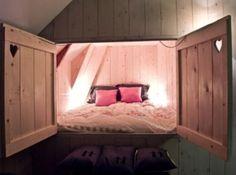 Rusztikus stílusú, tetőtéri hálószobák