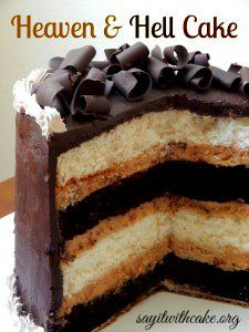Heaven and Hell Cake