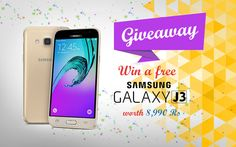"COUPONHAAT invites you to ""Win a FREE Samsung Galaxy J3 worth Rs. 8,990/-"".  To Participate Click Here: https://goo.gl/CQyOOS"