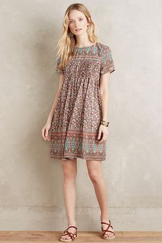 Love the cut and pleated chest style of this Vista Swing Dress #anthropologie ♥MH