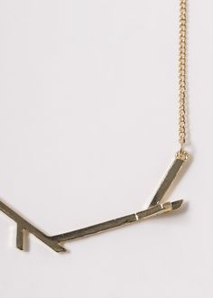 Sweet golden branches necklace.  #golden #branches #necklace