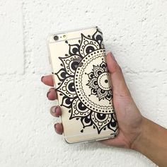Clear Plastic Case Cover for iPhone 5 5S - Hayley Mandala