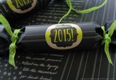 DIY personalizing homemade party crackers for New Year's Eve — pleasure in simple things blog