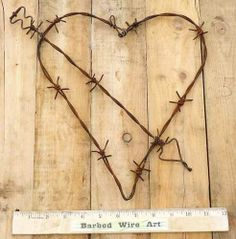 Rustic Metal Wall Art | ... Rustic Valentine Ranch Wall Decor Metal Cow Farm Barbed Barb Wire Art