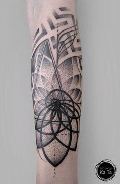fractal tattoo fibonacci tattoo fibonacci spiral mandala tattoo ...