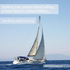 Crewed luxury yacht charter. Sardinia and Corsics