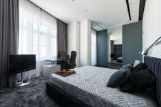 Монохромная квартира в стиле минимализм