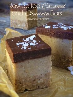 Raw Salted Caramel and Chocolate Bars