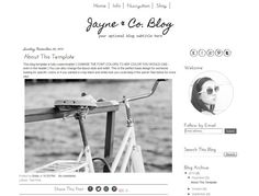 Blogger Template Black And White Blog Mobile Responsive Simple Instant