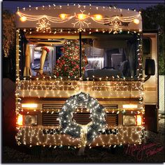 Christmas RV ~ LOVE the leg in the window!!