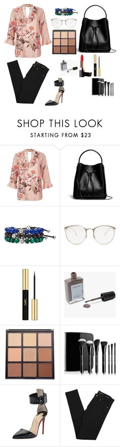 """""""Work"""" by cilphandethuong ❤ liked on Polyvore featuring River Island, Zena, 3.1 Phillip Lim, John Hardy, Linda Farrow, Yves Saint Laurent, J. Hannah, Morphe, Marc Jacobs and Christian Louboutin"""