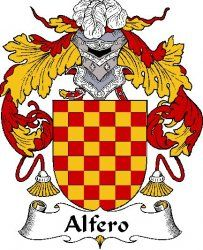 Alfero Spanish Coat of Arms Print Alfero Spanish Family Crest Print