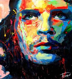 expressive portrait paintings at DuckDuckGo Watercolor Inspiration, Painting Inspiration, Che Guevara, Art Journal Pages, Oil Painting On Canvas, Canvas Wall Art, Tableau Pop Art, Ernesto Che, Abstract Portrait