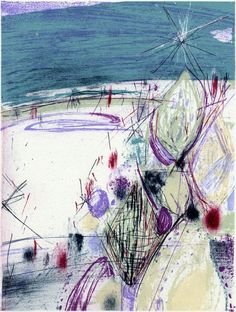 PRINT SHOW artist:No.28 辻元子 TSUJI Motoko「静けさの中で」 リトグラフ  20×15cm lithography