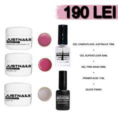 KIT GELURI JUSTNAILS -190 LEI www.justnails.ro