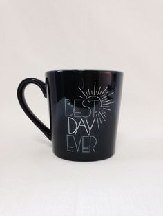 Life Is Good Navy Blue Best Day Ever Mug Coffee Cup