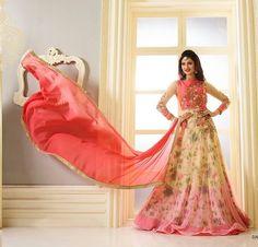 Attractive Designer Pink Anarkali Suits