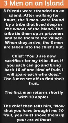 3 Men On An Island – Funny Joke Funny Jokes, Hilarious, 3 Friends, Great Stories, Prison, Laughter, Island, Men, Block Island