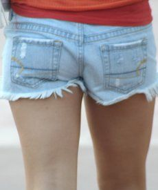How to Make Frayed Shorts From Old Jeans - mom.me,  Go To www.likegossip.com to get more Gossip News!