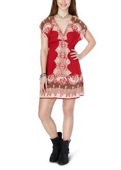 Red Gypsy Deep V Dress | Casual | rue21
