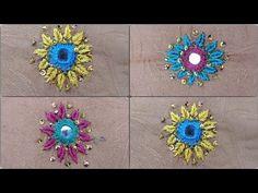 Hand Embroidery : Mirror work | Shisha work | Easy mirror work design | Fancy Mirror work For kurtis - YouTube Mirror Work Kurti, Mirror Work Dress, Fancy Mirrors, Work Suits, Kurtis, Hand Embroidery, Dresses For Work, Easy, Youtube