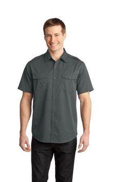 Combo 1 Tucked grey shirt (short sleeve) black pants, black apron $26.98ea