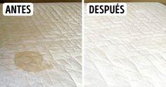 Las manchas en los colchones son muy molestas y mucho más cuando producen mal olor. Existe un método eficaz para limpiarlos, el cual aprenderás aquí.