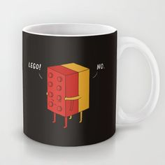 """I'll never lego"" Mug by Ilovedoodle on Society6."