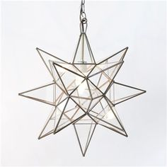 Worlds Away Clear Star Chandelier X-Large