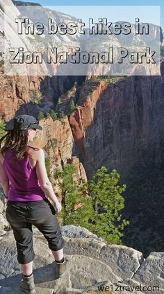 The best hikes in Zion National Park - including Angels Landing, The Narrows and more. Check our blog and be inspired!