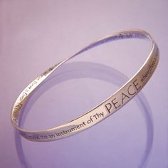 This prayer, reputedly written by St. Francis, is one of the most well-known prayers. St. Francis' unassuming character, his faith, love of nature and his positive way of thinking made him one of the most revered of all the saints.  #Easter #gifts #gift #Christian #jewelry #bracelet