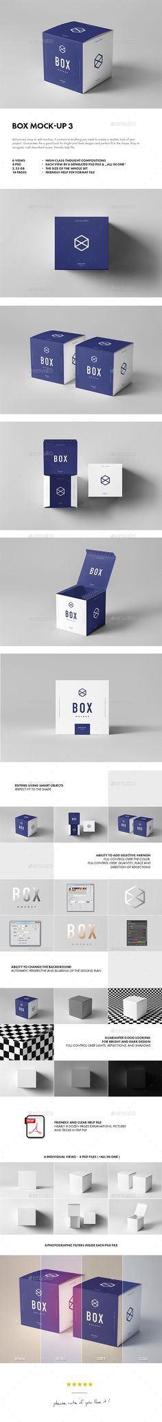 Box Mockup 3 — Photoshop PSD #decoration #groats • Available here → https://graphicriver.net/item/box-mockup-3/18763049?ref=pxcr