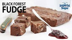 Learn how to make black forest fudge in this step-by-step how-to video. Black Forest Fudge is an easy recipe for a rich, dense chocolate fudge with cherry preserves and marshmallow fluff. This candy recipe makes a great gift during the holidays or dessert for a celebration or party.