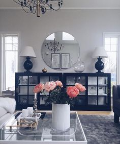 10 Ways to Decorate Your Living Room with Pink Shades - Looking for ideas to refresh your living room? Check out these pink living room decorating ideas to create a classy and cheerful interior design. Living Room Decor Cozy, Home Living Room, Interior Design Living Room, Living Room Designs, Barn Living, Cozy Living, Living Room Inspiration, Home Decor Inspiration, Home Remodeling