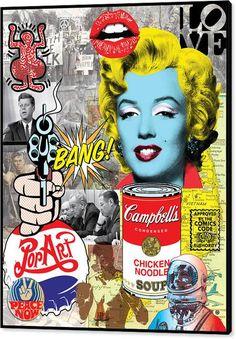 Pop Art Montage Canvas Print