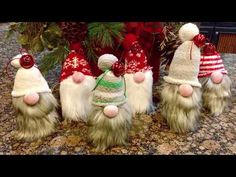 Hello everyone, I share with you how to create sock gnomes without rice or foam cones. DIY Gnomes NO RICE, NO FOAM CONES needed for this craft. Simple Christmas, All Things Christmas, Christmas Holidays, Christmas Projects, Holiday Crafts, Holiday Fun, Xmas Ornaments, Christmas Decorations, Christmas Knomes
