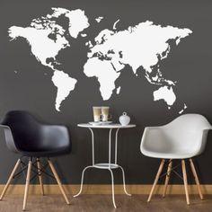 Eine Große Weltkarte Als Wandtattoo Lässt Die Herzen Der Reisefreudigen  Höher Schlagen