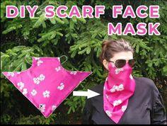 DIY Scarf Face Mask Free Sewing Pattern Free Printable Sewing Patterns, Tunic Sewing Patterns, Free Sewing, Sewing Diy, Face Masks For Kids, Easy Face Masks, Diy Face Mask, How To Make Scarf, Diy Mask