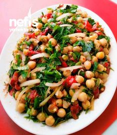 Nohut Salatası (Közlenmiş Biberli) – Nefis Yemek Tarifleri Chickpea Salad (Roasted Pepper) # Nohutsalata of the the Healthy Salad Recipes, Pasta Recipes, Crab Stuffed Avocado, Cottage Cheese Salad, Roasted Peppers, Chickpea Salad, Turkish Recipes, Easy Salads, 21 Day Fix