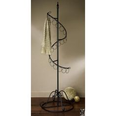 "72"" Black Spiral Scarf Tree from Avarietyofgifts.com"