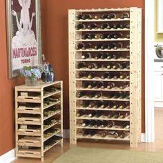 smart kitchen and linen storage upgrades to keep your life organized: swedish wood modular wine racks