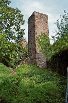 The Château de Greifenstein is a ruined castle in the commune of Saverne in the Bas-Rhin département of France. Property of the state, it has been listed since 1898 as a monument historique by the French Ministry of Culture. The Grand-Greifenstein was, within doubt, founded in the first half of the 12th century by the knight Meribodo de Greifenstein who had close links to the Ochenstein family.