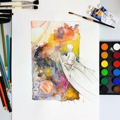 Carry on, little dreamer. #watercolor #art #artwork #illustration